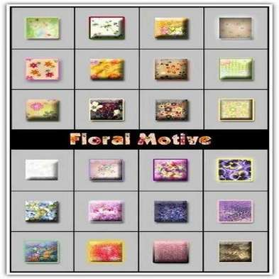 Floral Motive Styles for Photoshop