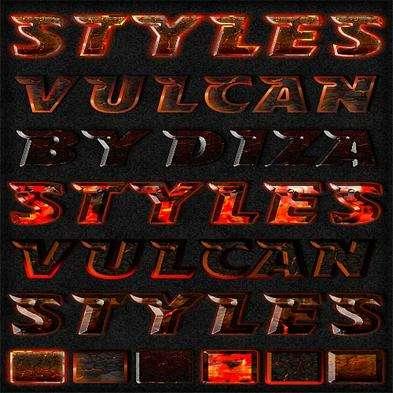Vulcan photoshop styles