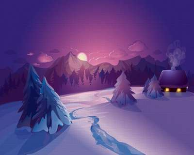 Free layered Photoshop background - Winter