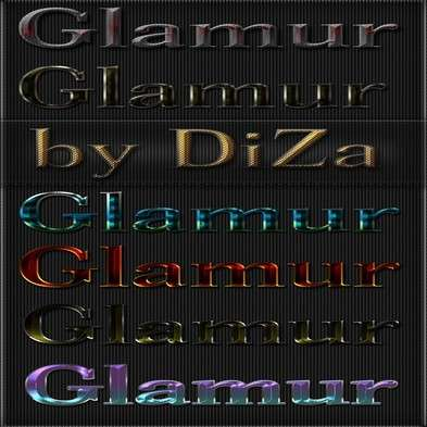 Glamur photoshop styles