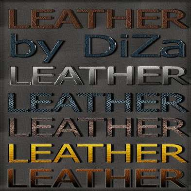 Leather text photoshop styles