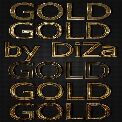 6 gold text photoshop styles