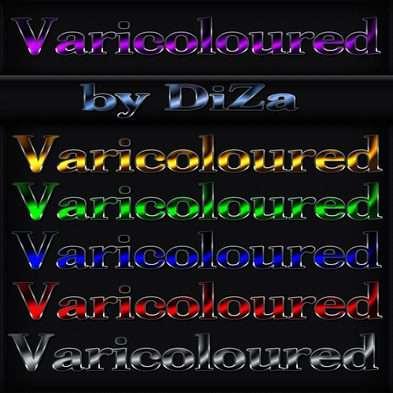 Varicoloured photoshop styles