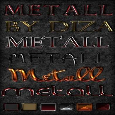 Color metall photoshop styles
