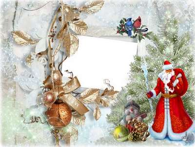 Free photo frame psd for photoshop - Merry Cristmas