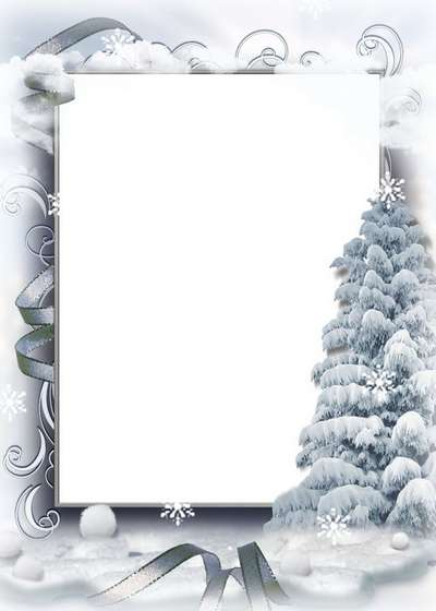 Free photo frame psd collage for photoshop - winter forest, winter nature