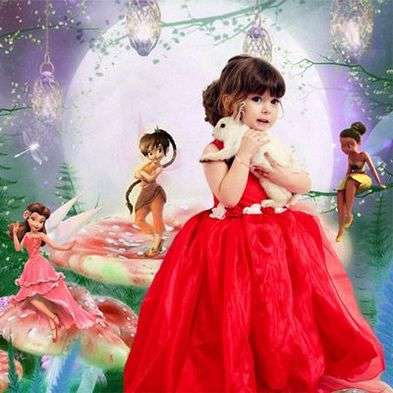 PSD template photoshop children's - the fairy glade