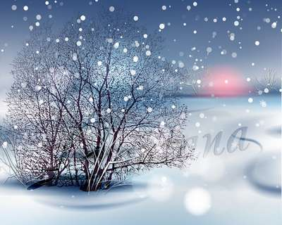 White snow psd - multilayer psd background