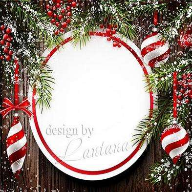 Free Multi-layer psd template - Magical Christmas holiday 3