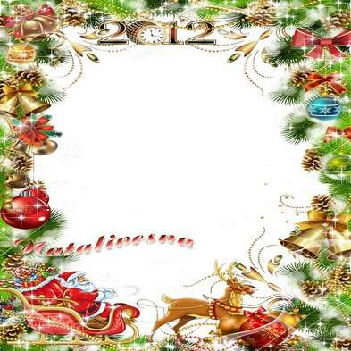 Cristmas frame psd template– Painted sledge rush a holiday, bringing in our house …