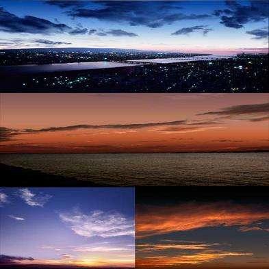 Photoshop PSD template Evening sky