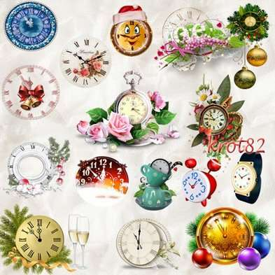 Free graphics png - Christmas watches, table clock, wall clocks, alarm clocks