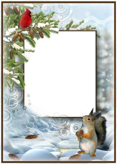 Free psd template frame for photo winter clearance