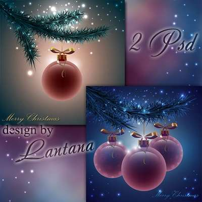 Free Multi-layer PSD template - Magical Christmas holiday 13
