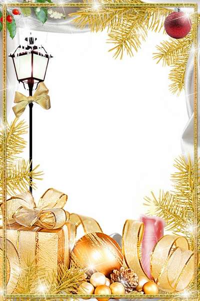 Free girl frame png + photo frame psd In the Golden style - Free download