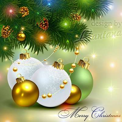 Free Multi-layer PSD template Magical Christmas holiday 23 - Free download