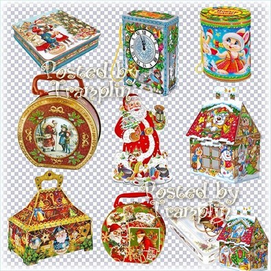 Free png images Christmas gift packings png and boxes png - Free download