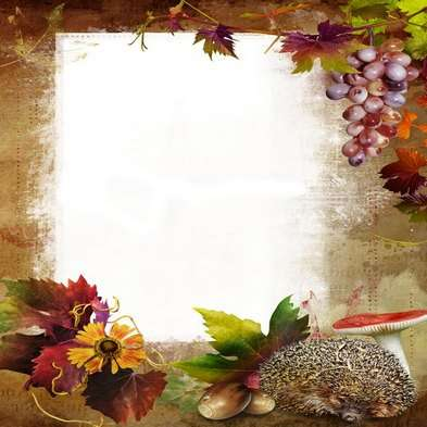 autumn photo frame psd  - Magic beauty of autumn