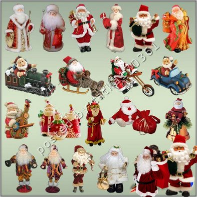 Free Clipart for Photoshop Santa Claus png for Christmas decorations png images - Free download