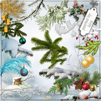 Christmas winter png images, snow branches,  branch with balls png clipart png