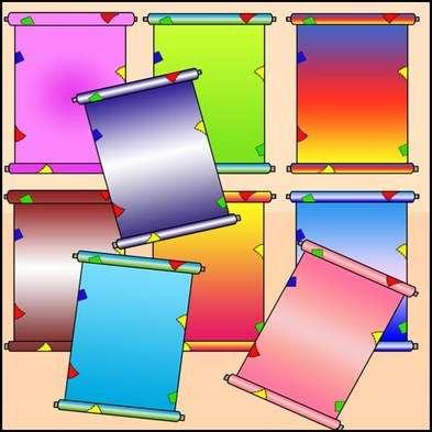 Children Scrolls free PSD for design free download