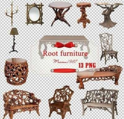 Root furniture set PNG free download