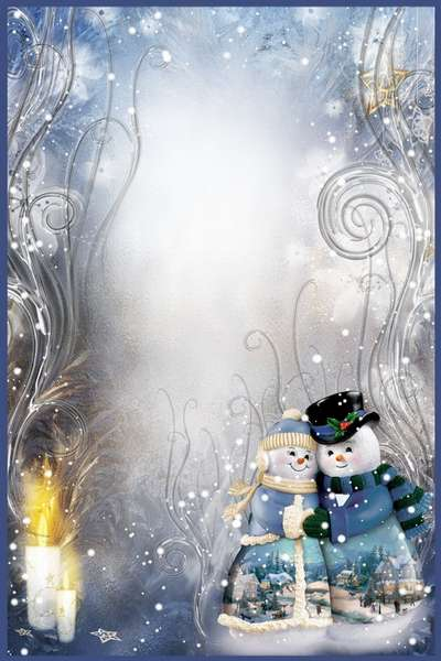 Free Collection 5 png photo frames +5 psd frames, winter + Christmas - Free download