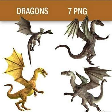 PNG клипарт - Драконы / PNG сlipart - Dragons - Free download