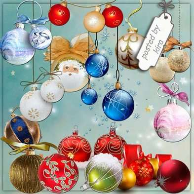 Christmas png images 198 PNG Christmas balls and balls on the Christmas tree clipart png,-