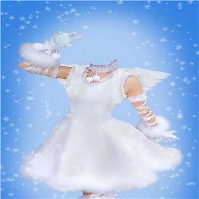 PSD Template for girls - psd costume dressed as angels