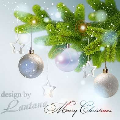 Free Christmas Multi-layer psd template (background) for Photoshop - Magical Christmas holiday 30