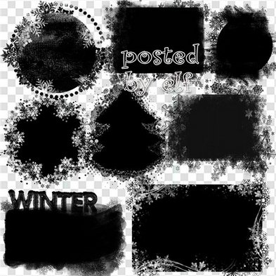 Christmas frame mask png, winter photo frame mask png for photoshop - Free download