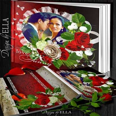 Romantic photo book on the day of Valentine- I love