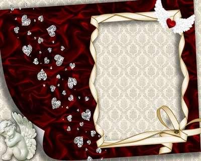 Love Frame for decoration photo female - angel