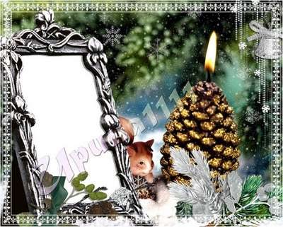 Free PSD Frame for Photoshop - Christmas Greeting frame PSD Free download