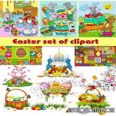 Easter set of clipart Png + Jpg - Free download