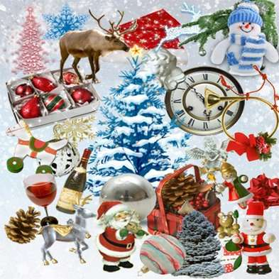 Scrap Kit png images - Christmas and New Year
