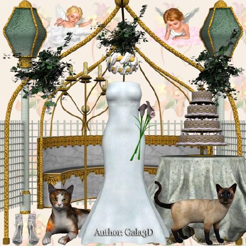 Scrap 3D: Wedding Day 18 png