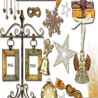 Scrap kit christmas png with gifts
