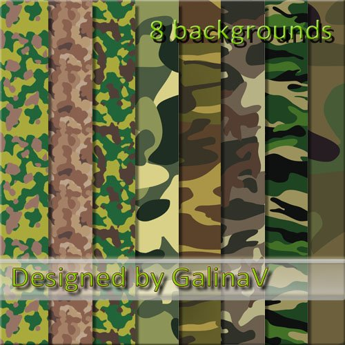 Military Scrap-Kit - To Defenders of Fatherland