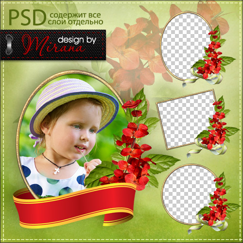 Clusters - PNG frames for photo and vignette 3
