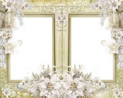 Download Wedding photo frame psd file for Photoshop. Transparent PNG ...