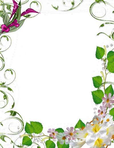 Free framework psd with floral corners for decoration of photos download