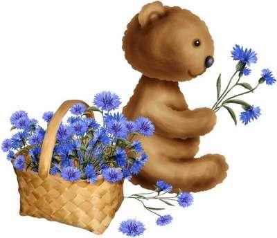 Scrap-set kids toy Funny bear free download
