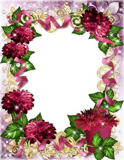 Flower Frame-I'll will give chrysanthemum