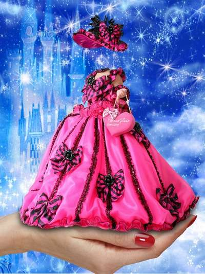 2 children PSD templates for girls - costume psd little Princess