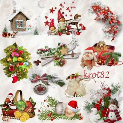 Free png graphics clusters Holiday Decorations on a transparent background for Photoshop