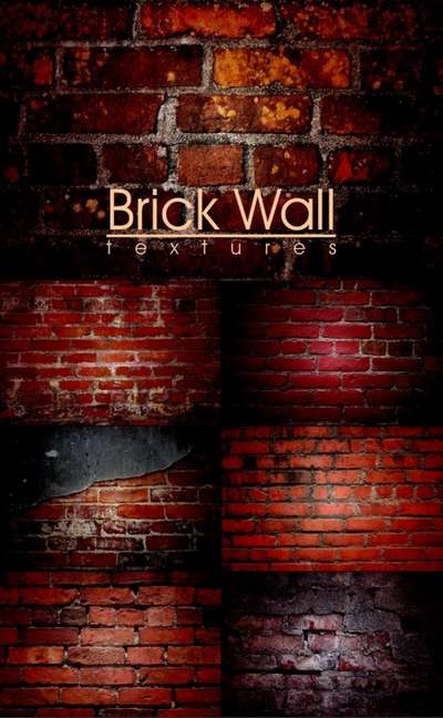 Stock Photo - Destroyed Brick Wall
