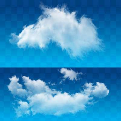 Photoshop clipart - Cloud psd + 16 HQ Background JPG