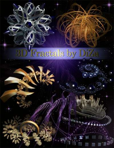 3D Fractals on transparent background